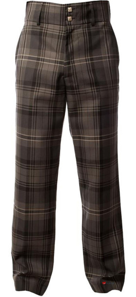 Men's Tartan Trews Hamilton Grey