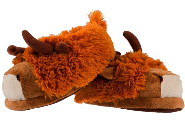 Men's Highland Cow Slippers Brown