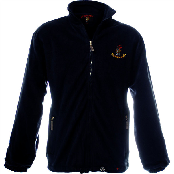 Men's Fleece Edinburgh with Piper Navy
