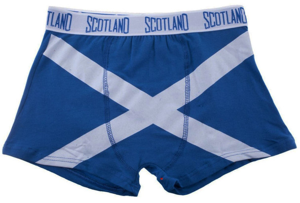Gents Boxer Shorts Saltire Fashion Design Royal Blue