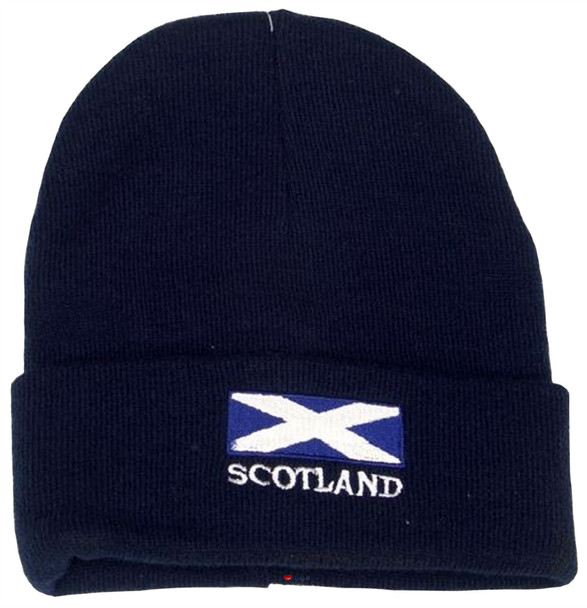 Scotland Saltire Beanie Hat Navy Unisex