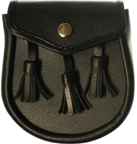 Boys Half Dress Black Leather Basic Sporran