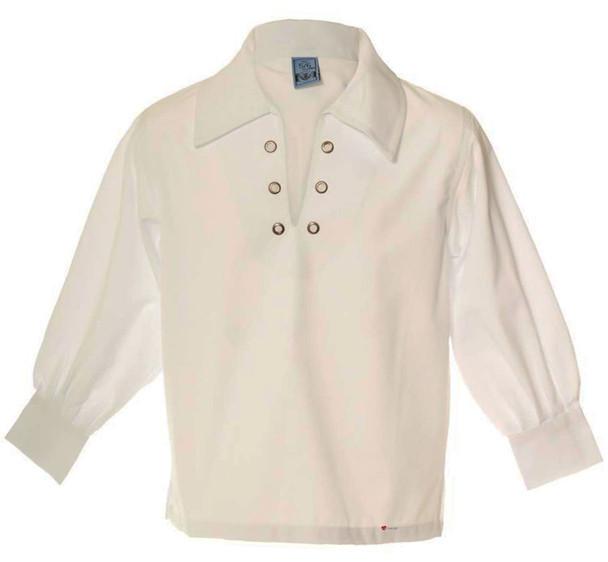 Boys Basic Ghillie Shirt White