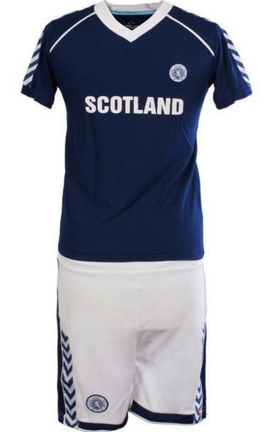 Kids Plain Scotland Football Top