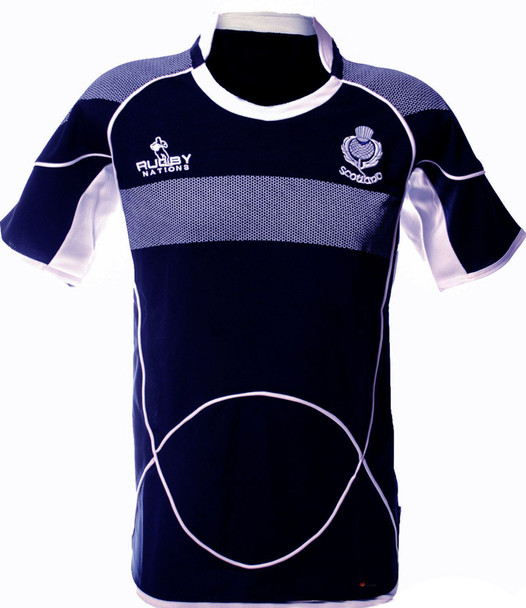 Kids Scotland Rugby Shirt Crew Neck Half Sleeve