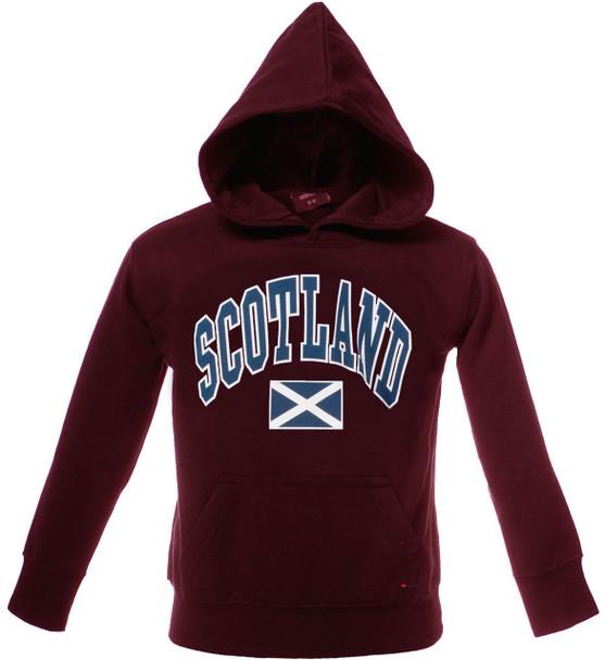 Kids Scotland Harvard Print Hooded Top