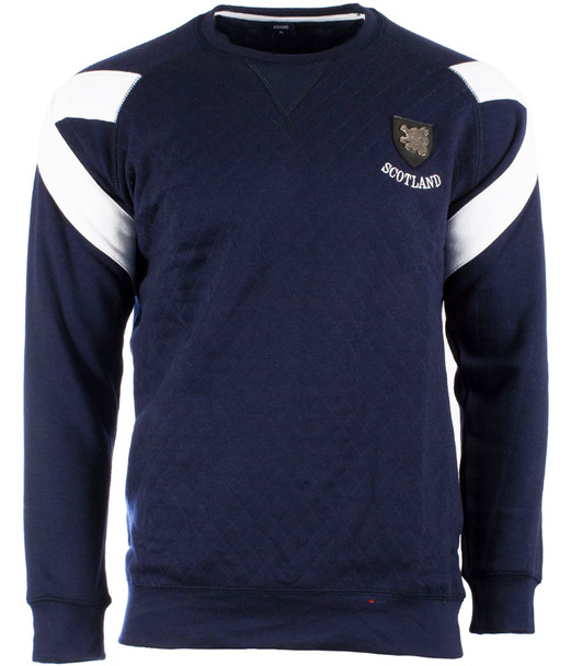 Men'S Saltire Crew Neck Sweatshirt Navy