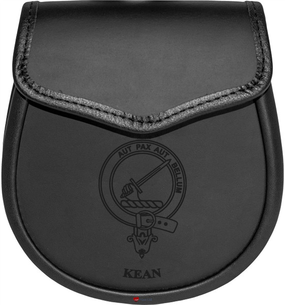 Clan Leather Day Sporran Scottish Clan Name Crest Eadie-Livingston