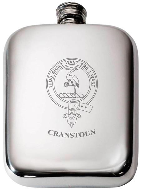 Scottish Clan Crest Name Pewter Hip Flask 6oz
