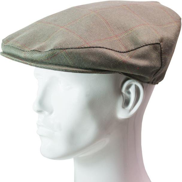 Tweed Flat Cap Mens Oban Check