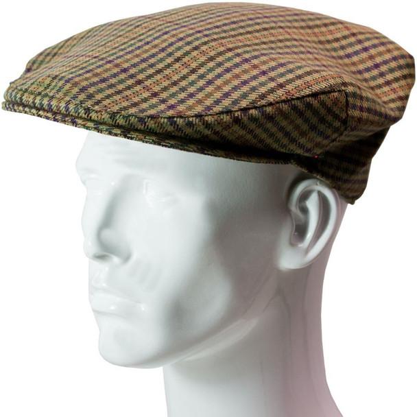 Tweed Flat Cap Mens Ednam Check