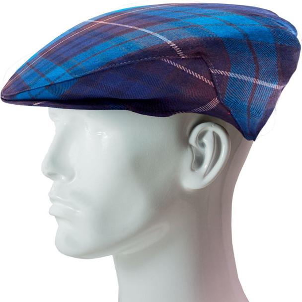 Flat Cap Mens Buchanan Blue Tartan