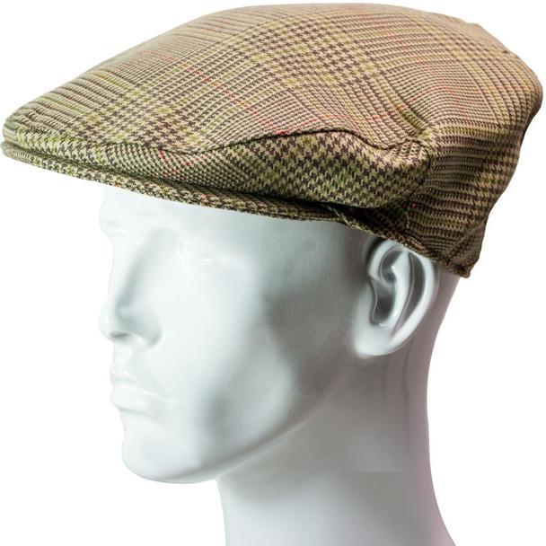 Tweed Flat Cap Mens Crail Check