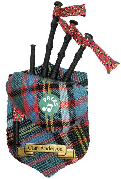 "Anderson Musical Bagpipe Fridge Magnet Sound ""Scotland the Brave"""