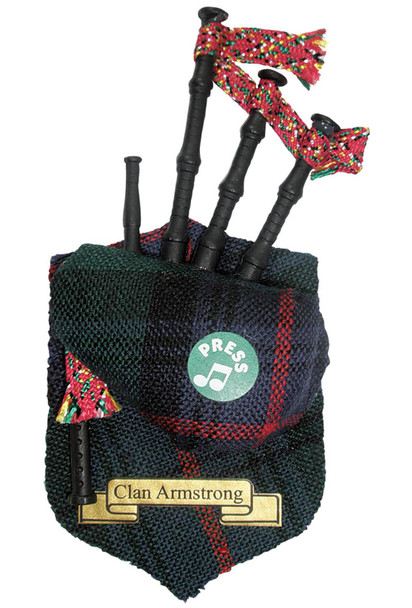 "Armstrong Musical Bagpipe Fridge Magnet Sound ""Scotland the Brave"""