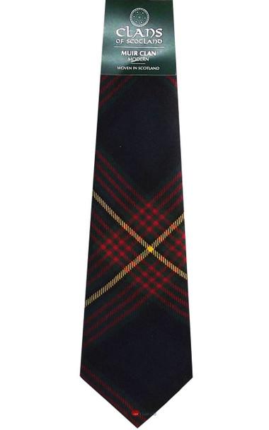 Muir Clan 100% Wool Scottish Tartan Tie