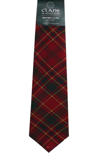 Munro Clan 100% Wool Scottish Tartan Tie