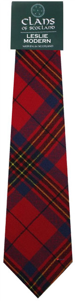 Leslie Clan 100% Wool Scottish Tartan Tie