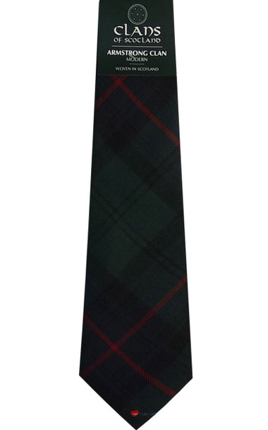 Armstrong Clan 100% Wool Scottish Tartan Tie