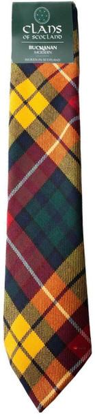 Buchanan Modern Clan 100% Wool Scottish Tartan Tie