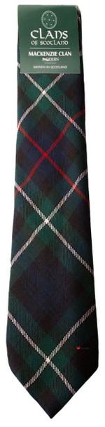 MacKenzie Clan 100% Wool Scottish Tartan Tie