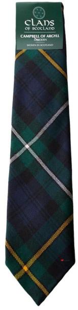 Campbell of Argyll Clan 100% Wool Scottish Tartan Tie