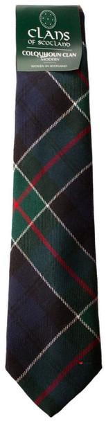 Colquhoun Clan 100% Wool Scottish Tartan Tie