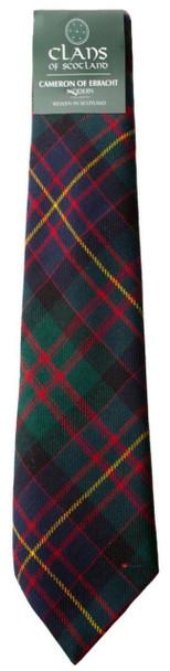 Cameron of Erracht Modern Clan 100% Wool Scottish Tartan Tie