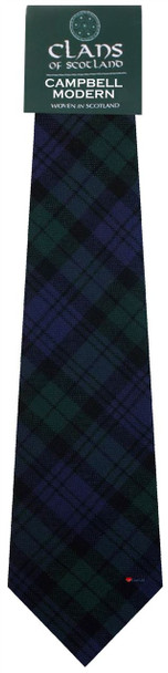 Campbell Clan 100% Wool Scottish Tartan Tie