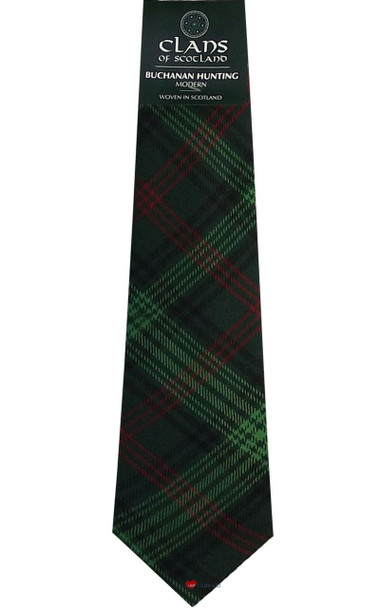 Buchanan Hunting Clan 100% Wool Scottish Tartan Tie