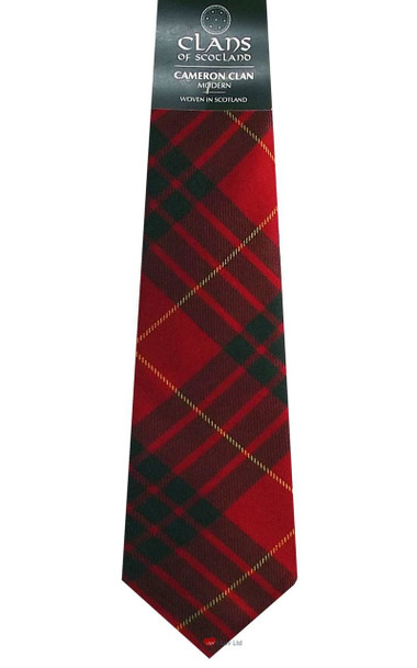 Cameron Clan 100% Wool Scottish Tartan Tie