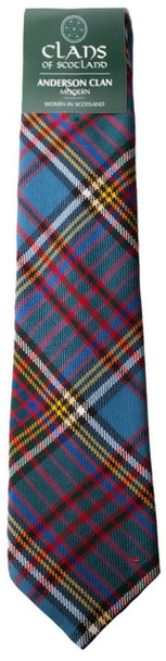 Anderson Clan 100% Wool Scottish Tartan Tie