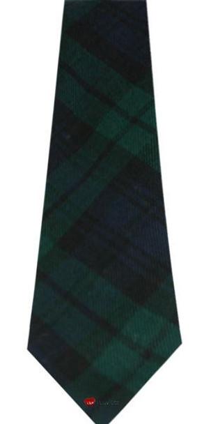 Black Watch 100% Wool Scottish Tartan Tie