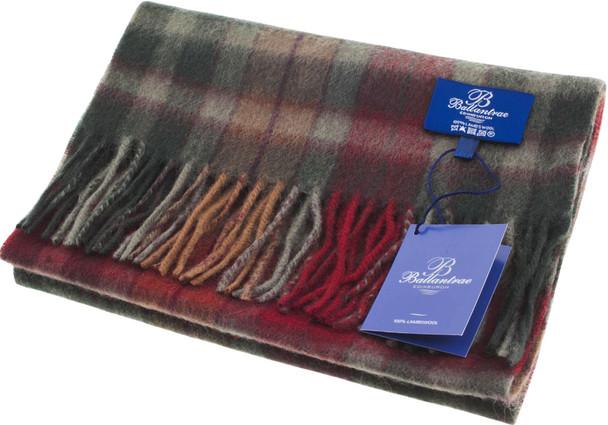 100% Lambswool Scarf Buchanan Autumn Scottish Gift Winter Scotland