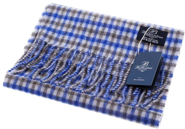 100% Lambswool Scarf Aqua Blue Scottish Gift Winter Scotland
