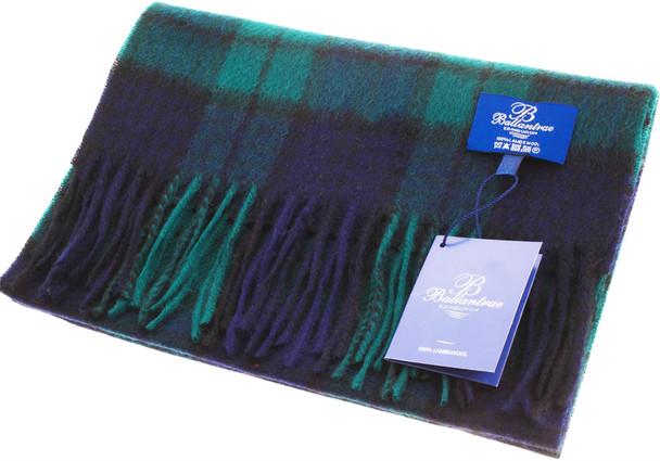 100% Lambswool Scarf Black Watch Scottish Gift Winter Scotland