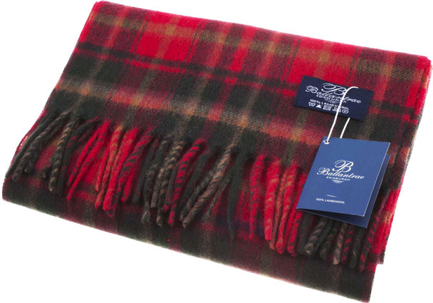 100% Lambswool Scarf Dark Maple Scottish Gift Winter Scotland