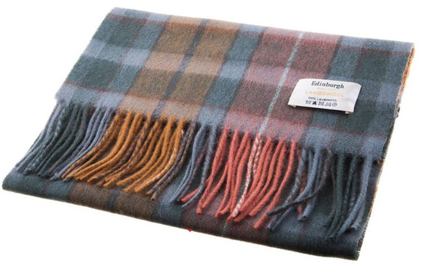 Scarf 100% Lambswool Edinburgh Brand 1436 in Buchanan Antique Tartan