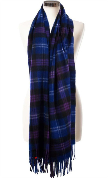 Cashmere Stole In Heritage of Scotland Tartan Design 71cm Wide