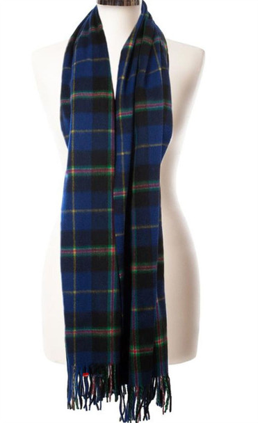 Cashmere Stole In Italian National Tartan Design 71cm Wide