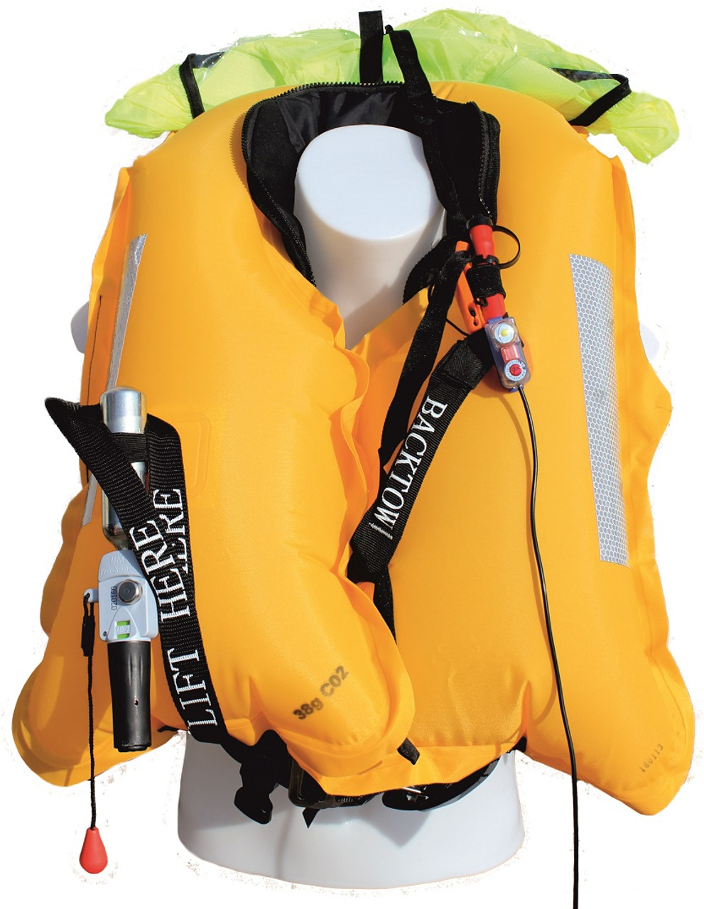 TeamO 170N BackTow Lifejacket and Harness - inflated