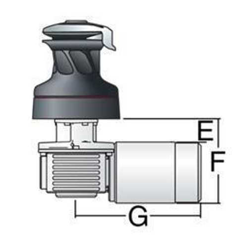 Harken Radial 2 Spd Electric ST Alum Winch Horizontal 12 Volt (50.2STEA12H) (50.2STEA12H)
