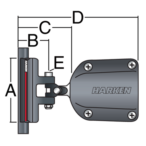 Harken System A CB Battcar w/40mm Receptacle - No Wire
