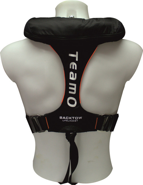 TeamO 170N BackTow Lifejacket and Harness - Black