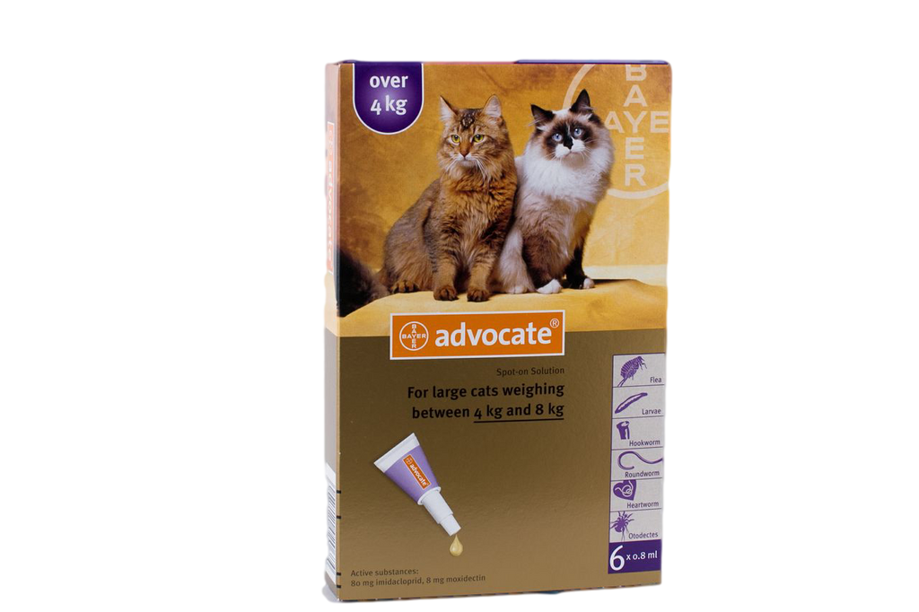 Advocate for Cats over 4 kg (over 9 lbs) - Purple 6 Doses - Old Packaging Front Image