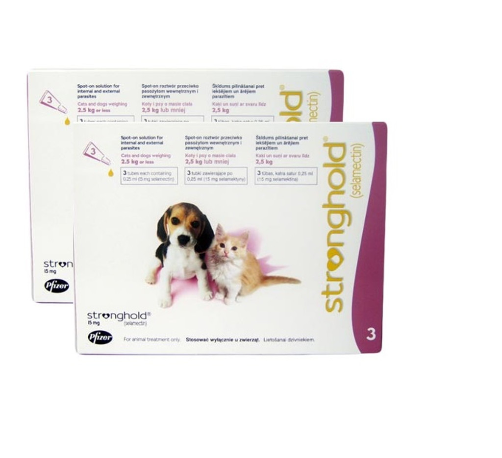 Stronghold for Puppies & Kittens up to 2.5 kg (up to 5 lbs) - Mauve 6 Doses