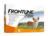 Frontline Plus for Dogs up to 10 kg (up to 22 lbs) - Orange 3 Doses (10/2022 Expiry)