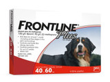 Frontline Plus for Dogs 40.1-60 kg (89-132 lbs) - Red 3 Doses (05/2023 Expiry)