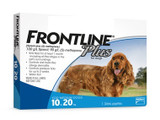 Frontline Plus for Dogs 10.1-20 kg (23-44 lbs) - Blue 6 Doses (08/2022 Expiry)