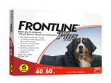 Frontline Plus for Dogs 40.1-60 kg (89-132 lbs) - Red 6 Doses (10/2022 Expiry)